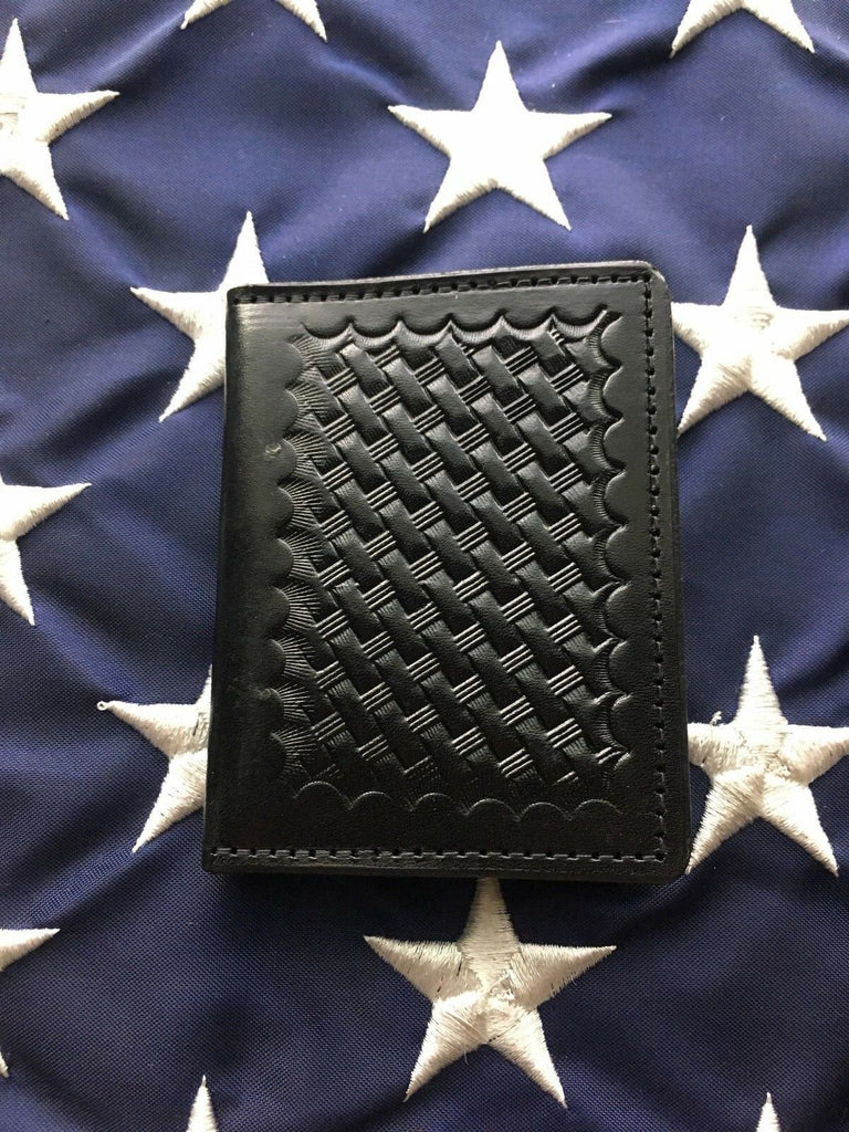 Tex Shoemaker Walking Bear Fire Forest Service Badge ID Wallet Black Leather