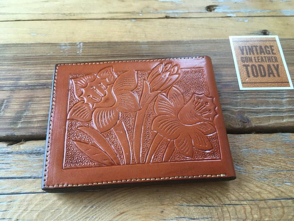 Alfonsos Leather Police Sheriff Badge Wallet ID Holder 7 Point Star CA San Diego
