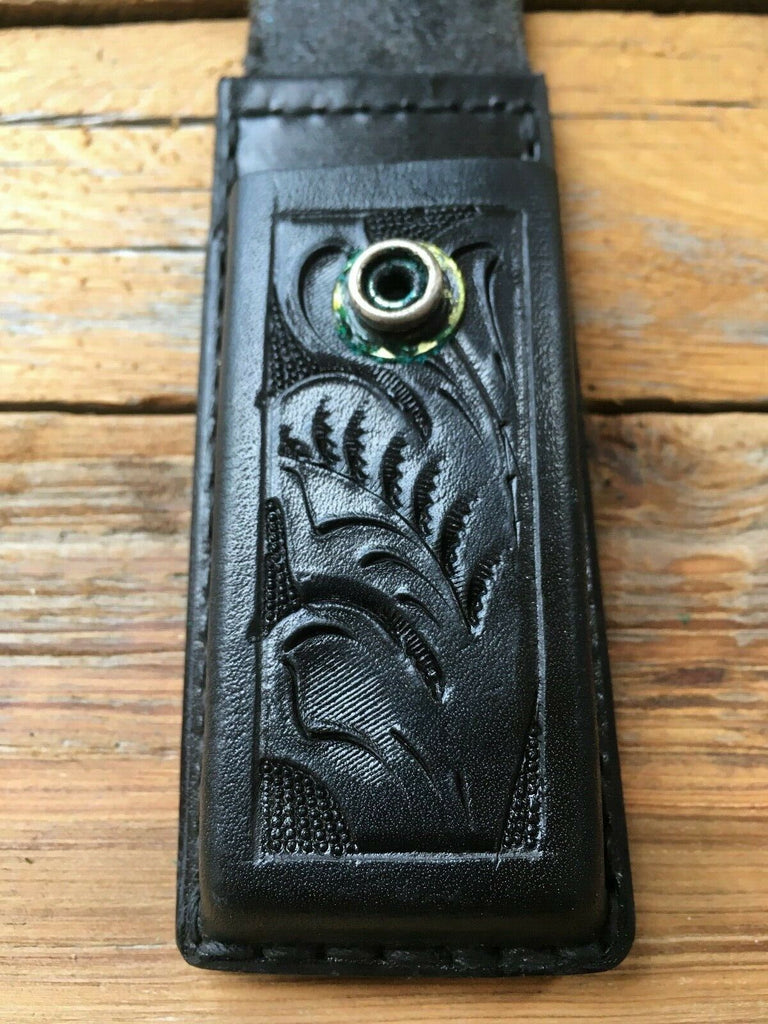 Vintage Tex Shoemaker Hand Floral Carved Magazine Carrier P7M8 PSP 39 P225