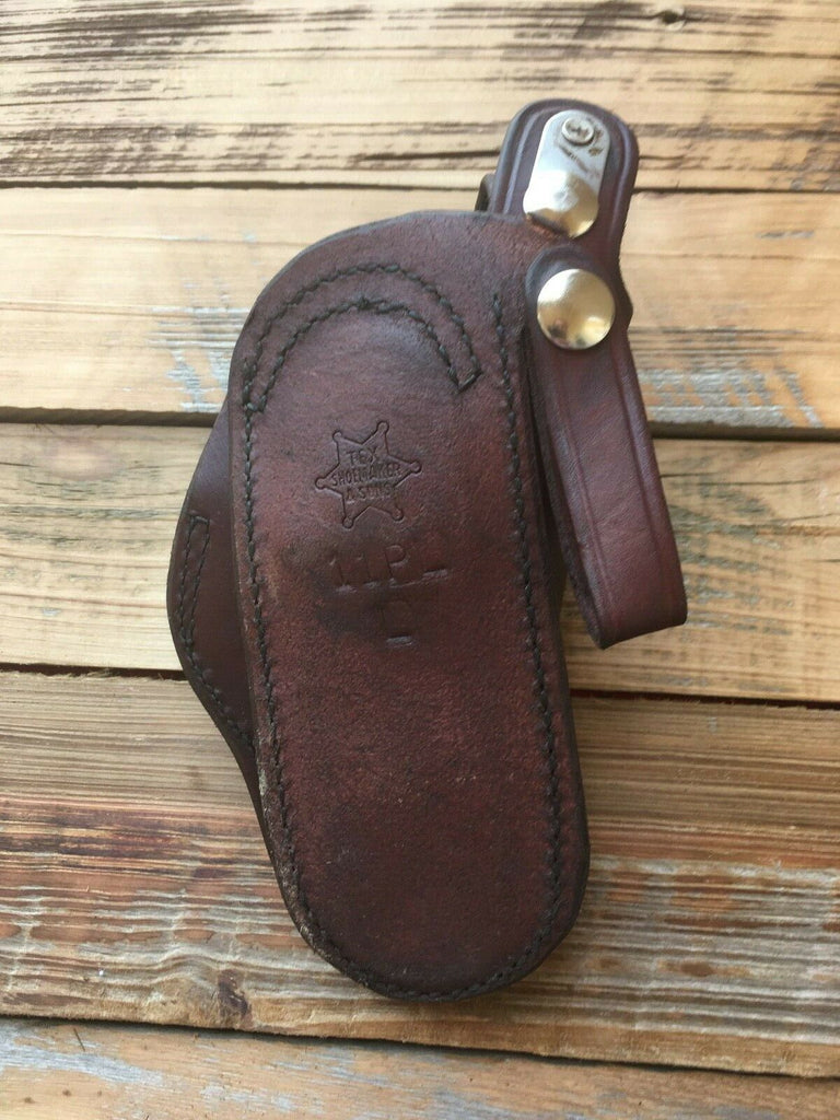 Tex Shoemaker Cordovan Brown Paddle Holster For S&W K Frame Revolver 2""