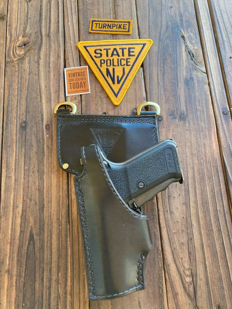 Vintage Tex Shoemaker NJSP Discontinued NJ State Police Holster For HK P7M8 LFT