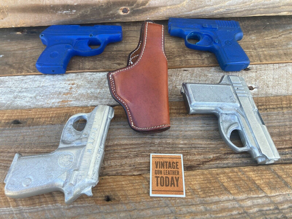 Alfonso'sOf Hollywood Brown Leather Suede Lined Colt Mustang .380 Holster Right