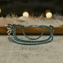 Load image into Gallery viewer, turquoise swarovski crystal necklace