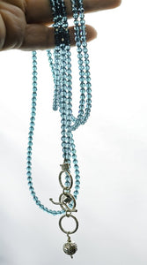 turquoise swarovski crystal necklace