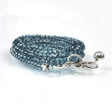 Load image into Gallery viewer, turquoise swarovski crystal bracelet