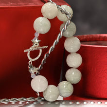 Load image into Gallery viewer, Carved Natural Jade Bracelet
