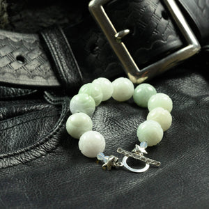 Carved Natural Jade Bracelet