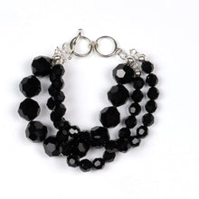 Load image into Gallery viewer, Black Three-strand Bracelet