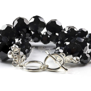 Black Three-strand Bracelet