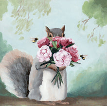 Load image into Gallery viewer, Anthropomorphic animal painting by Kim Ferreira
