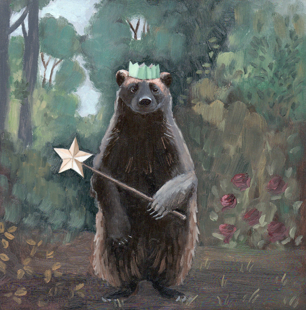 Wolverine w/ Magic Wand - 6x6 original painting