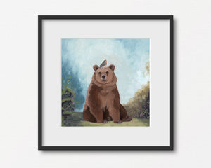 Bear w/ Bird - Art Print