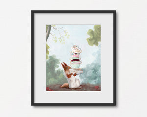 Squirrel at Teatime - Art Print