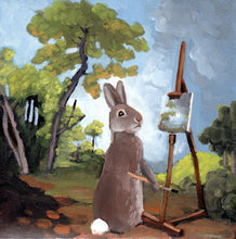 Load image into Gallery viewer, Rabbit Painting - 8x8 print