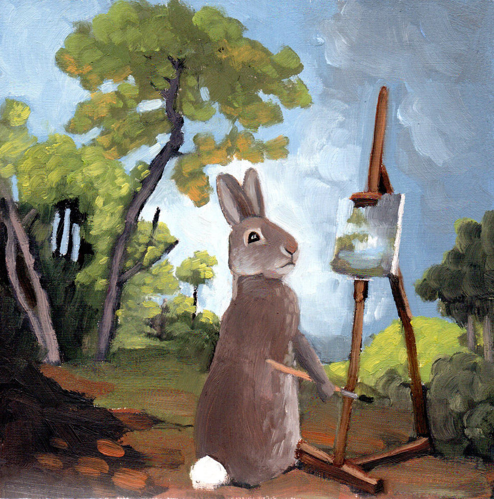 Rabbit Painting - 8x8 print