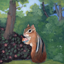 Load image into Gallery viewer, Chipmunk w/ Gelato - 8x8 print