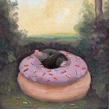 Load image into Gallery viewer, Mole w/ Doughnut - 8x8 print