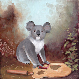 Koala Bear w/ Cookie Cutter - 8 x 8 print