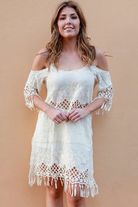 KN0407A Cream Dress