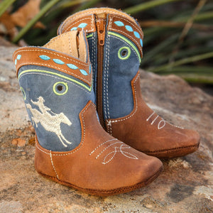 Syd | Bucking Horse Cowboy Baby Boot | Green