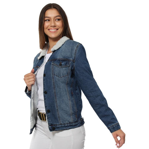 Shepparton Womens Denim Jacket - True Blue