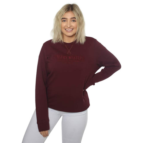 Ringers Western | Kooyong Women's Crew Neck Pullover Cabernet
