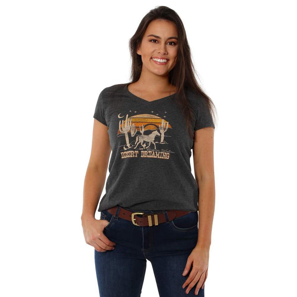 Ringers Western | Desert Dreaming Women's Relaxed T-Shirt - Faded Black