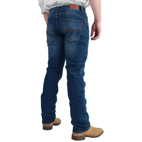 Ringers Western | Mitchell Men's Classic Fit Jean Straight Leg - Mid Blue