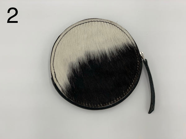 Annabelle | Black & White Cowhide Purse