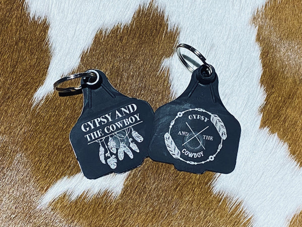 Cattle Tag Key Ring