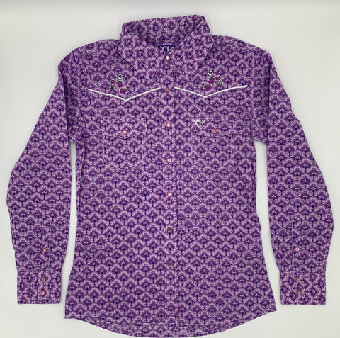 Maple Pattern L/S Shirt