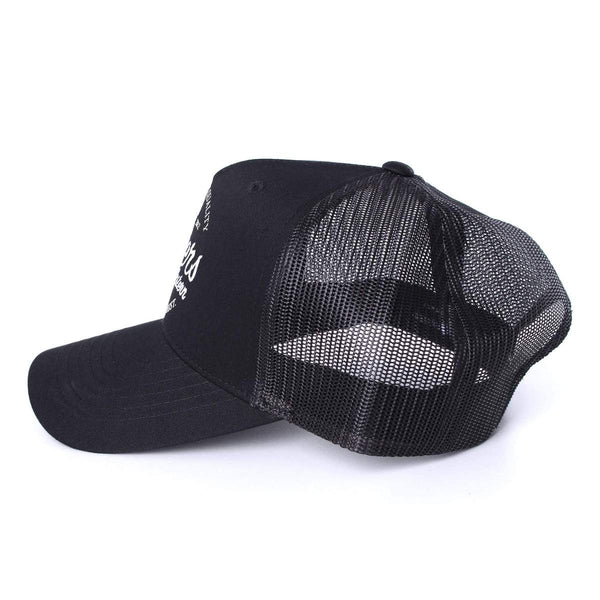 Boundary Trucker Cap Jet Black