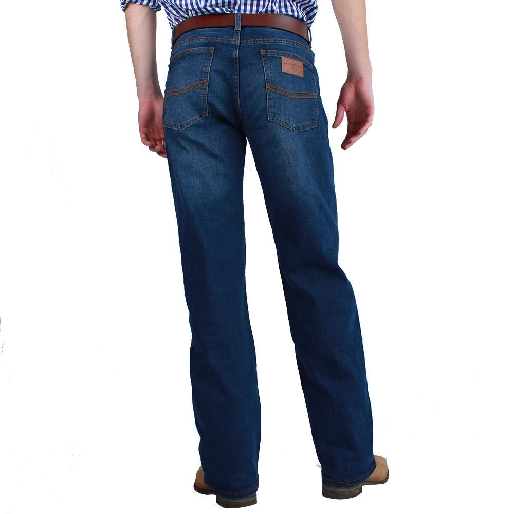 Ringers Western | Sturt Mens Classic Fit Jean Relaxed Leg Mid Blue
