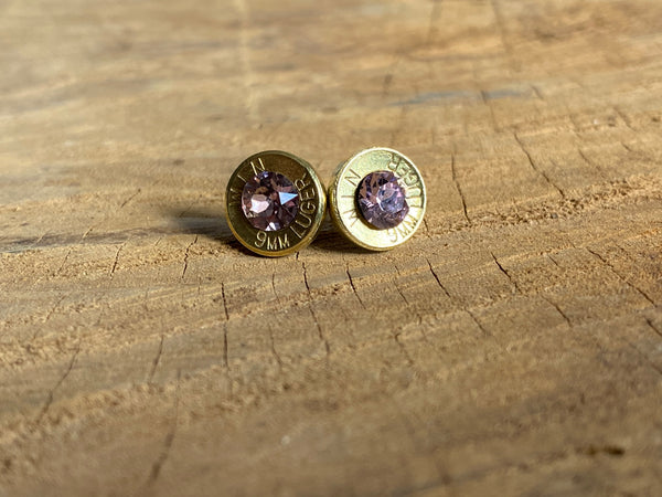 Winchester 9mm Bullet Earrings | Brass