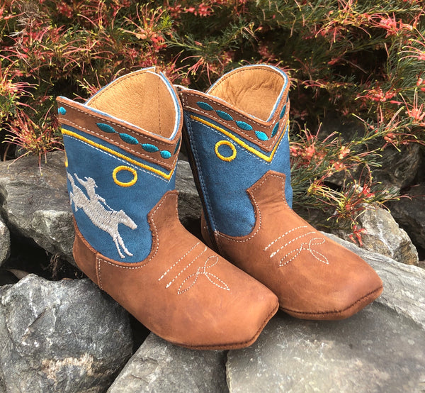 Syd | Bucking Horse Cowboy Baby Boot | Yellow