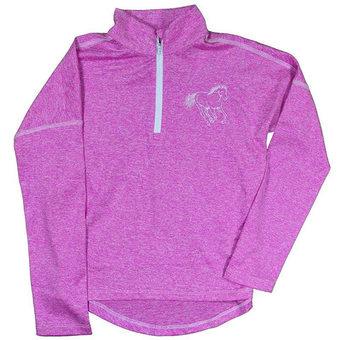 Infant | 1/4 Zip Heather Pink Sports Knit