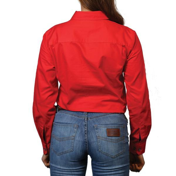 Ringers Western | Pentecost River Womens Half Button Work Shirt Red