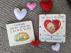 Valentines Books Snuggle Puppy and Guess How Much I Love You