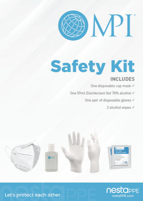 MPI-Branded PPE Safety Kit with Mask