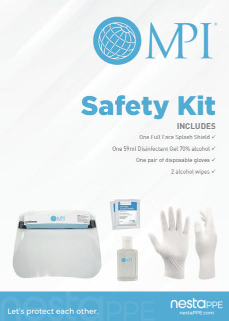 MPI-Branded PPE Safety Kit with Face Shield