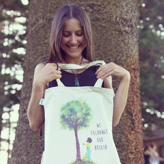 Tree and Moco Organic Cotton Tote Bag - Canvas Tote bags
