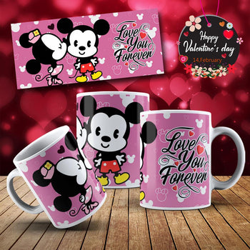 Image Sublimation Disney Saint-Valentin - (Fichier JPEG, PNG, SVG - 20 images téléchargeables) -