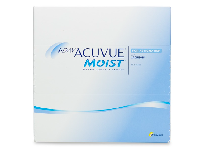 1 Day Acuvue Moist for Astigmatism 90-Pack - Lensbox™