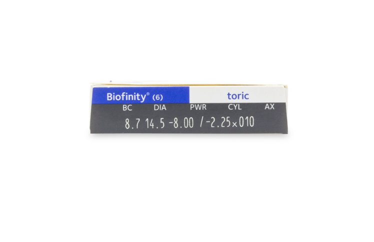Biofinity toric for Astigmatism Monthly Contact Lenses 6-Pack - Lensbox™