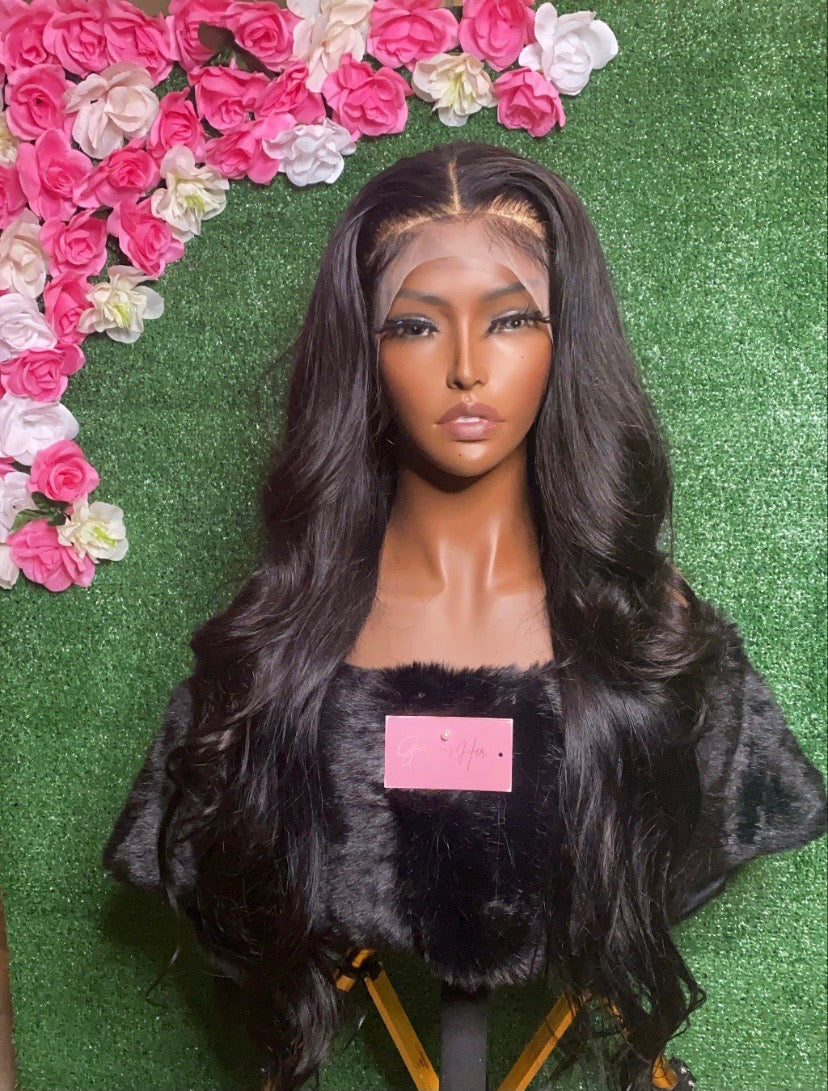 "26"" frontal wig unit. 22"" head size"