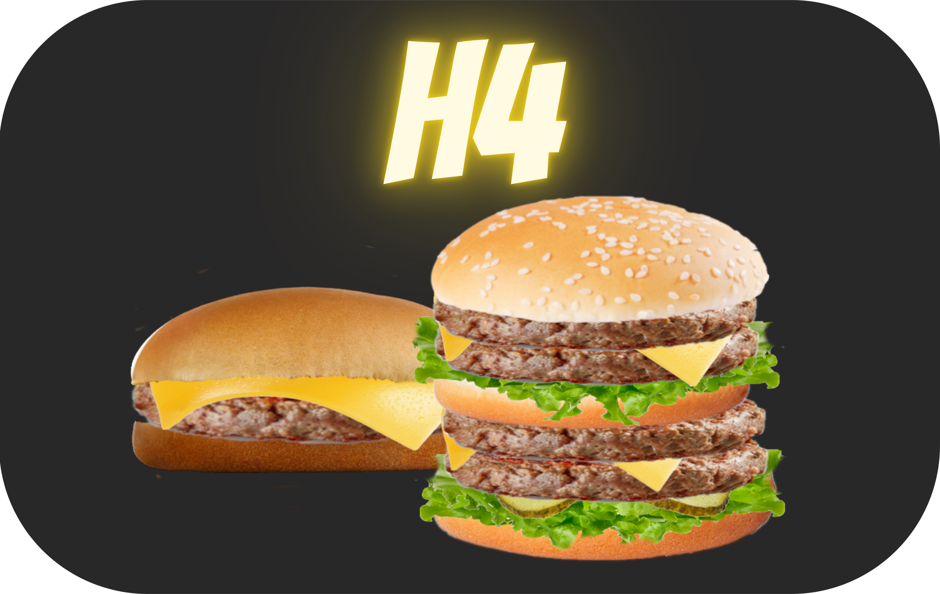 BIG H' MAX + CHEESEBURGER  + 1 frite + 1 boisson