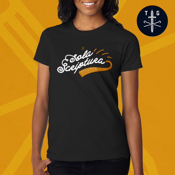 Sola Scriptura | Ladies' Dark T-Shirt