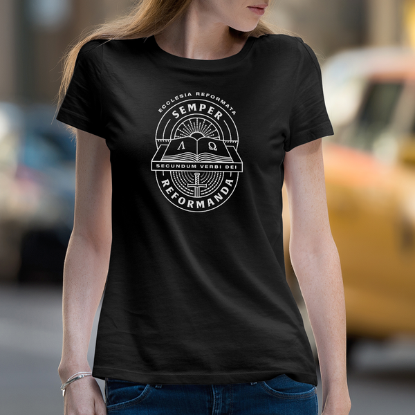 Semper Reformanda | Women's Dark T-shirt