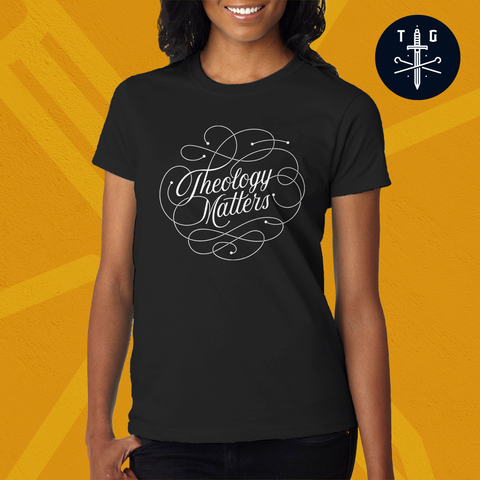 Theology matters | Ladies' Dark T-Shirt