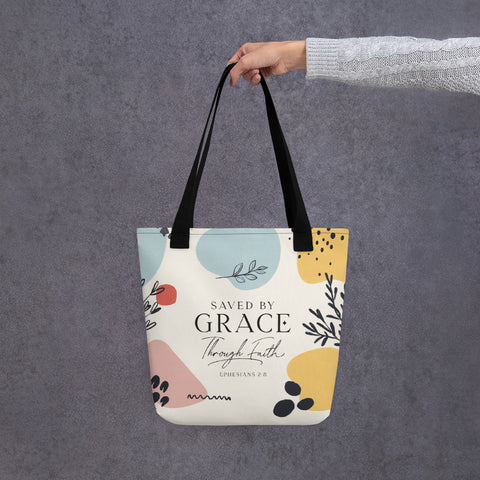 Saved By Grace Through Faith | Tote bag